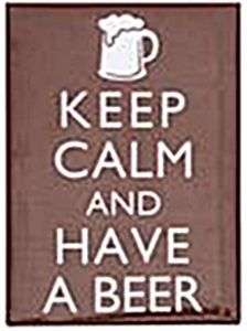 Keep Calm & Have A Beer steel fridge magnet   (gg)